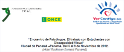 Portada del Encuentro de Psicólogos con los logos de las entidades colaboradoras