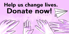 Help us change lives.Donate now!