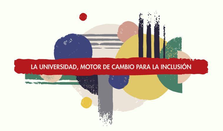 Logotipo del IV Congreso Internacional de Universidad y Discapacidad, a cargo de Fundación ONCE