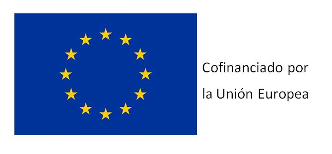 Distintivo que recuerda que el proyecto es financiado por la Unión Europea