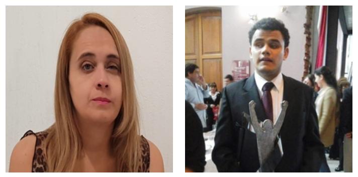 Imagen de los ganadores: a la izquierda, Osmey Torrealba; a la derecha, Ariel Ruiz