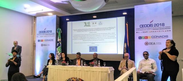 Imagen de la presentación del proyecto de FOAL y la Unión Europea en República Dominicana