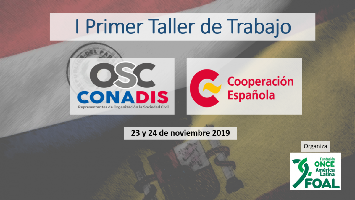 Gráfica del Taller de FOAL y OSC CONADIS Paraguay