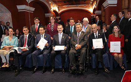 El Rey de España, Felipe VI, junto al resto de dignatarios durante la Cumbre de Guatemala