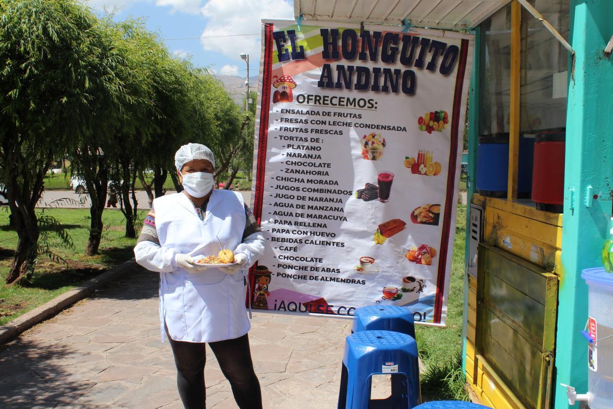 Puesto 'El Honguito andino', en Cuzco