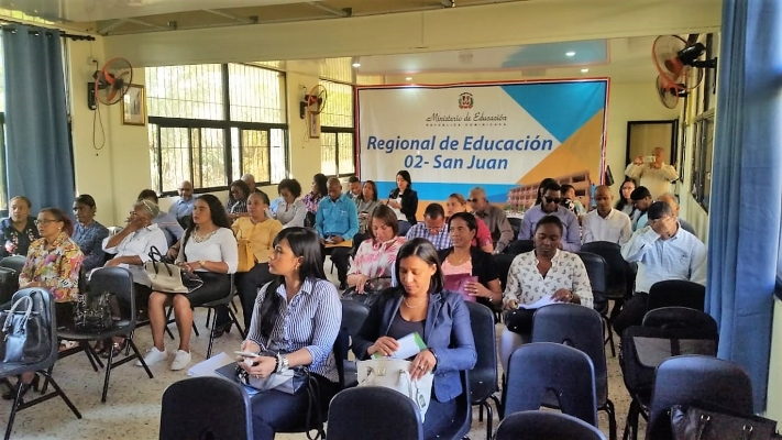 Un grupo de docentes, durante uno de los talleres