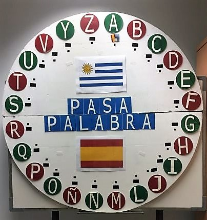 El 'rosco' del Pasapalabra Cultura con las letras del abecedario y las banderas de Uruguay y España