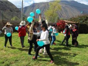 Imagen de una de las actividades del proyecto FOAL Violeta desarrollado el año pasado en Cuzco (Perú)
