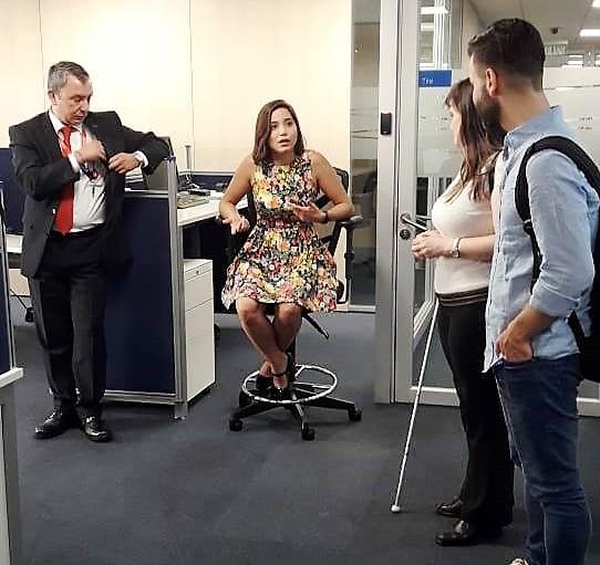 El equipo de ÁGORA Argentina, en un encuentro con gerentes del Banco Scotiabank Chile